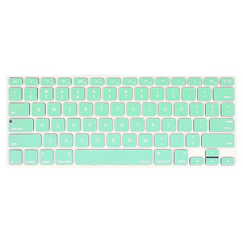 MOSISO Keyboard Cover Silicone Skin Compatible MacBook Pro 13 Inch, 15 Inch (with or Without Retina Display, 2015 or Older Version) MacBook Air 13 Inch, Mint Green