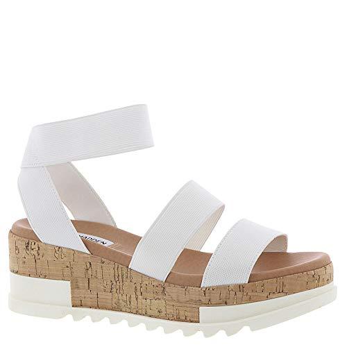 - Steve Madden Womens Bandi White Sandal - 6