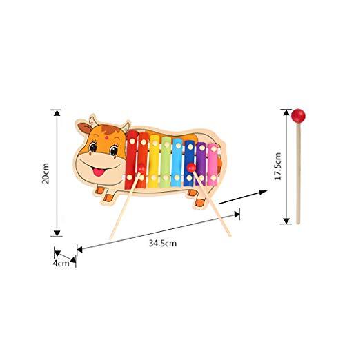 LIUFS-Tocar el Piano Ocho Tonos De Dibujos Animados De Piano De Madera Lindo Becerro Que Toca En El Regalo De Juguete De Música De Piano (Color : Multi ...