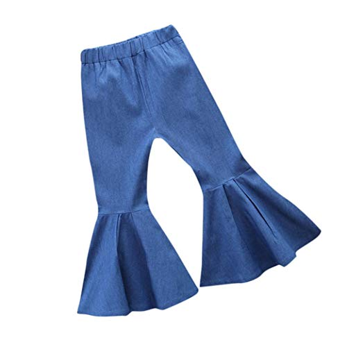 kaiCran Baby Clothes Girl,Fashion Little Girls Denim Flares Trousers Toddler Kids Baby Clothes Jeans Pants (Blue, 90(0-18 Months)) - Kids Flare