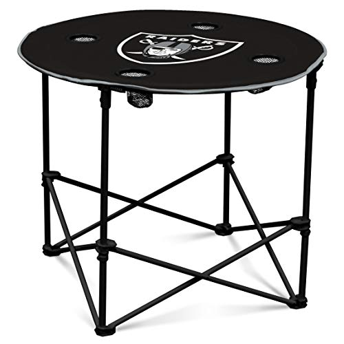 - Oakland RaidersCollapsible Round Table with 4 Cup Holders and Carry Bag