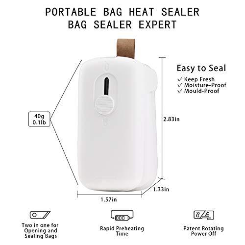 Mini Bag Sealer & Cutter,2 in 1 Heat Sealer and Cutter Mini Food Sealer For Plastic Bags Food Storage,Kitchen Handheld Heat Sealer and Cutter