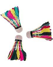 T TOOYFUL 3 stuks kleurrijke badmintonshuttles voor kinderen