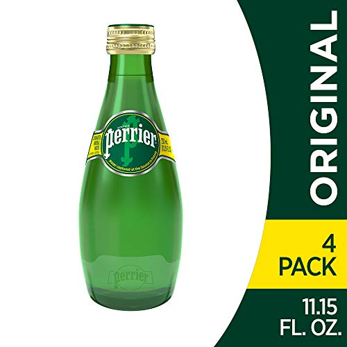 Perrier Carbonated Mineral Water, 11.15 fl oz. Glass Bottles (4 Count)