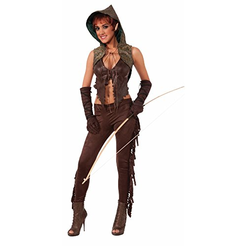 Forum Novelties Women's Medieval Fantasy Elf Hunter Costume, Brown, One Size