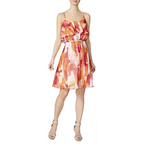Stampato Vestito Calvin Donne Multi Il Pura Colore Rosa Arancione Delle Di Klein Rosso Casuale fnr0FrqXpx