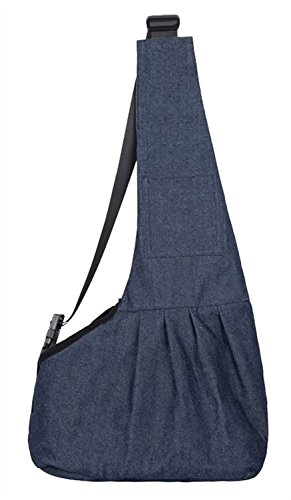 Depets Dog Cat Carrier Messenger Bag, Blue Denim - Messenger Dog Bag