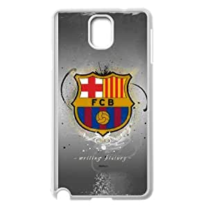 High Quality Specially Designed Skin cover Case Sports fc barcelona emblem Samsung Galaxy Note 3 Cell Phone Case White