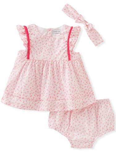 absorba Baby Girls Dress and Panty Set, Pink/White, 3/6