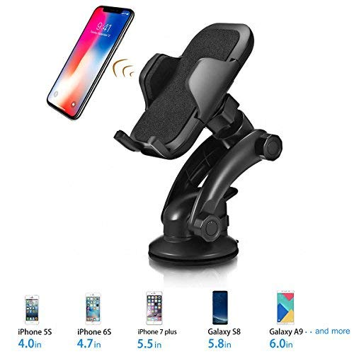 (Car Phone Mount, TeeBeg Universal Washable Strong Sticky Gel Pad Car Phone Holder for iPhone X/8/7/7Plus/6s/6Plus/5S,Galaxy S5/S6/S7/S8,Google,LG,Huawei and More (Black) (black01) (black01))
