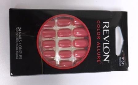 Revlon Color Allure Nails, Medium Length, Passion Punch 91041, 24 Ct.