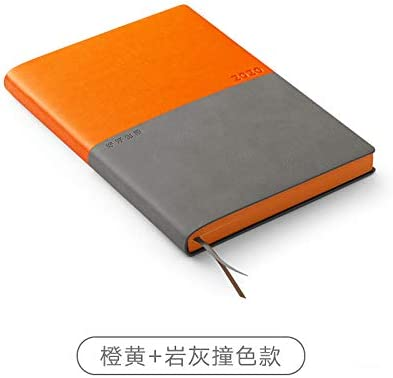 Tagesplaner 2020 Managementplan 2020 Notizbuch-Tagebuch-Zeitplan-Orange + Rock Grey Taschen-Tagebuch 2020