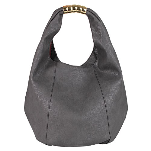 Bag Eva Top PU Women amp;Evan Handle bag Grey Shoulder Leather large capacity Dark IHqrwIUnB