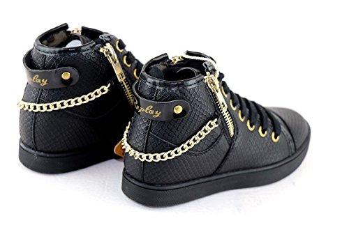 REPLAY SALISBURY High Top Sneaker Girl Black *** NICE STYLE *** NEW ***