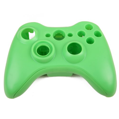 HDE Xbox 360 Wireless Controller Shell Buttons Thumbsticks Replacement Case Custom Cover Kit - Green (Flash Trigger Sony)