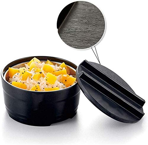 ,Nero,S SLL Japanese Udon Noodles Student Bowl,Ramen Bowl Set,Pho,Noodle,Udon or Any Soup Meal-Non-Slip,Heat Insulation Black Melamine