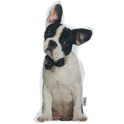 (Apolena Animal Shaped Decorative Pet Filled Throw Pillow, Cats & Dogs, Boston Terrier)