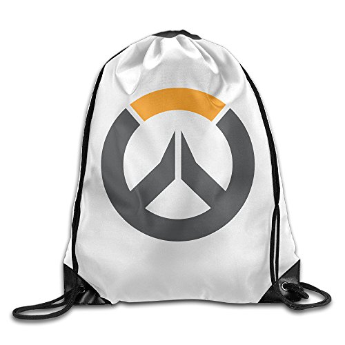 Overwatch Circle Logo Icon Sports Beam Port Drawstring Backpack by Crazy Men