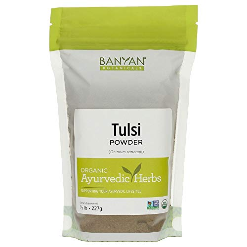 Banyan Botanicals Tulsi Powder, 1/2 Pound - USDA Organic - Ocimum sanctum - Holy Basil - Ayurvedic Adaptogen*