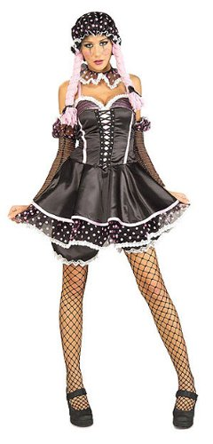 Gothic Raggedy Ann Halloween Costumes (Secret Wishes Women's Sassy Rag Doll Girl Adult Costume, Multicolor,)
