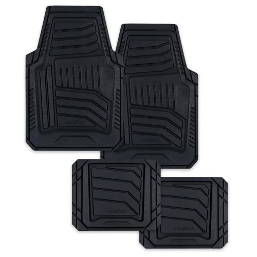 Goodyear Natural Rubber Floor Mat Set, Black, 4pcs (805821)