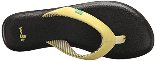 Yoga Sanuk Pear Tongs Femme Chakra Yellow BdwvHd