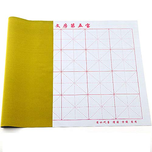 Easyou Gridded Magic Water-Writing Cloth for Japanese Chinese Calligraphy Practice Thick 72x46cm(28.3