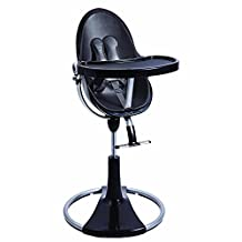 Bloom Fresco Chrome Contemporary High Chair From New Born - 8 Years Frame Only (Noir / Black)