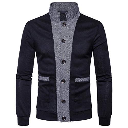 Hommes Col Printemps Cardigans Veste Sweat Été Croisé Schwarz Manches Knit Confortable Manteau Collier Longues Automne Gilet Pied 7qtFx5nE