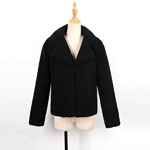 Parka las Internet Negro de lujo Coat Chaqueta caliente mujeres de abrigo Tops Escudo de mujer Outwear Cardigan ZwnAxfqU