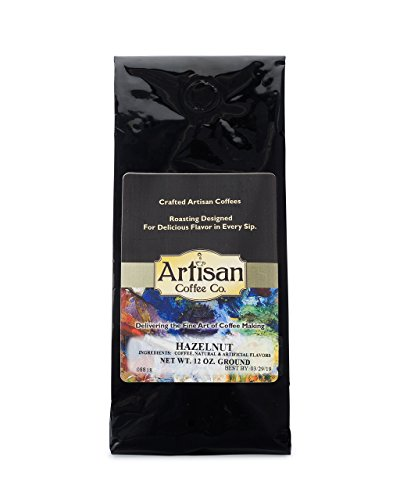 Hazelnut Artisan Fresh Ground Coffee Available in (10) (Hazelnut Flavored Fresh Roasted Coffee)