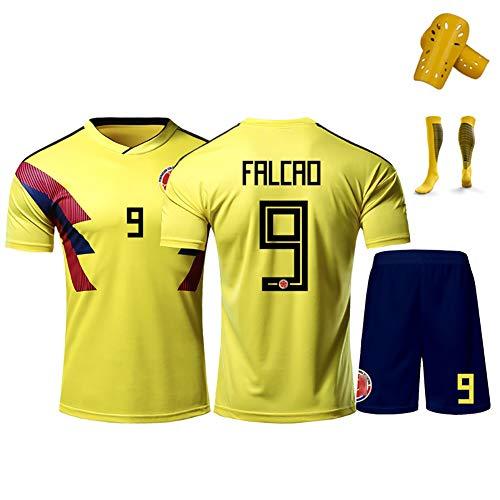 GWCASA Utilizado para Falcao No.9 James No.10 Rodríguez No.11 Cuadrado Colombia Uniforme de fútbol, Personalizado con…