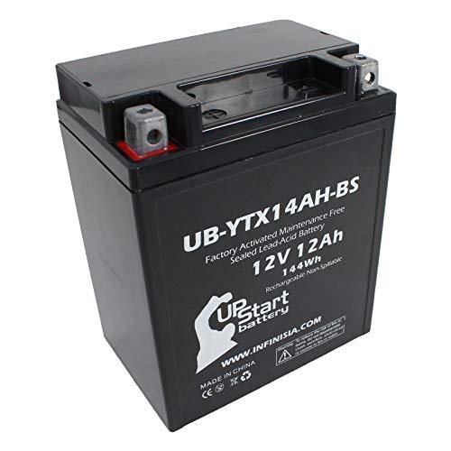 UB-YTX14AH-BS Battery Replacement for 2001 Kawasaki KLF220-A Bayou (CN) 220 CC ATV - Factory Activated, Maintenance Free, Motorcycle Battery - 12V, 12AH, UpStart Battery Brand (220 Battery Kawasaki Bayou)