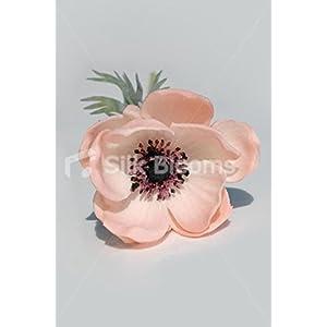 Single Artificial Fresh Touch Peach Anemone, Silk Peach Poppy 3
