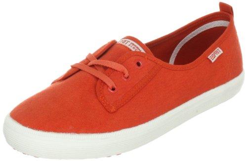 ESPRIT Italia Lace Up E13015 - Zapatillas de tela para mujer Naranja