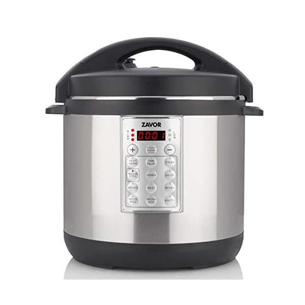 Zavor Select 6 Quart Electric Pressure Cooker and Rice Cooker with Non-stick Inner Cooking Pot and Brushed Stainless… 1