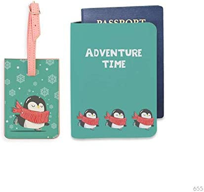 Bisu Bisu personalized Passport Cover and Luggage Tag set Penguin Wonderland