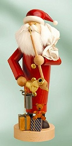 German Incense Smoker Santa Claus - 25 cm / 10 inch - Authentic German Erzgebirge Smokers - KWO