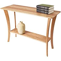 Manchester Wood Contemporary Cherry Console Table - Natural Cherry