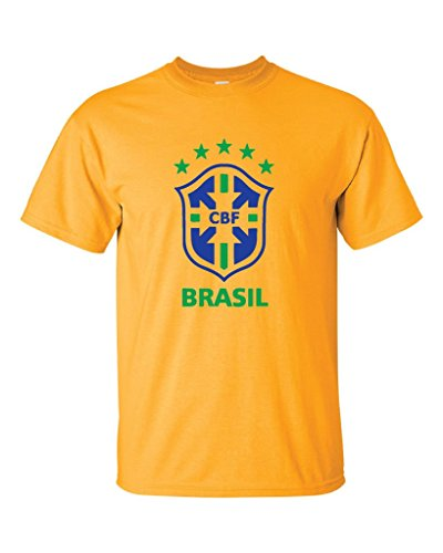 Local Imprint Men's Brasil T-Shirt L Gold