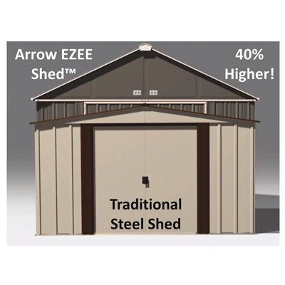 Arrow EZEE Shed Extra High Gable Steel Storage Shed