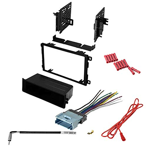 (CACHÉ KIT111 Bundle with Complete Car Stereo Installation Kit Compatible with Pontiac Cars Listed Below- in Dash Mounting Kit, Antenna, Wire Harness for Single or Double Din Radio Receiver (4 Item))