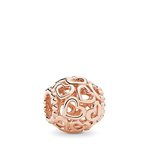 Open Filigree Heart - PANDORA Open Your Heart Filigree Charm, PANDORA Rose, One Size