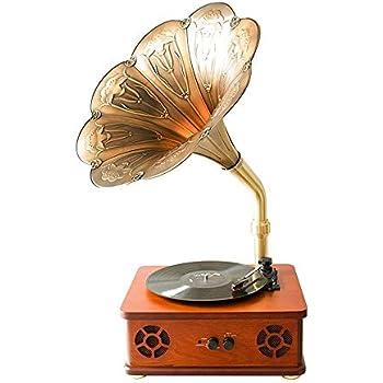 Amazon.com: Altavoz Bluetooth retro, bocina, tocadiscos ...
