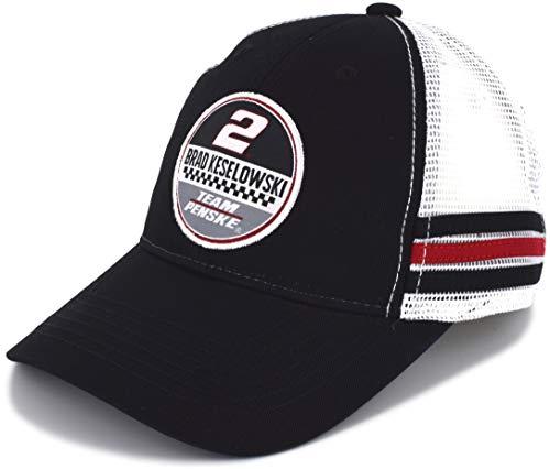 SMI Properties Brad Keselowski 2019 Vintage Patch Mesh NASCAR Hat Black, White ()