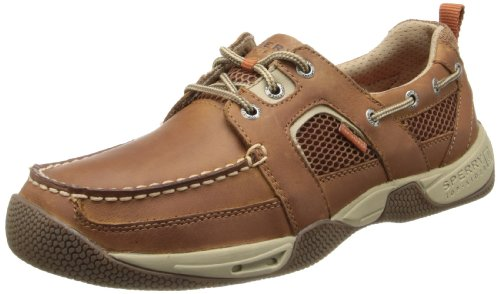 Sperry Top-sider Mens Sea Kite Scarpa Sportiva Da Barca Dark Tan