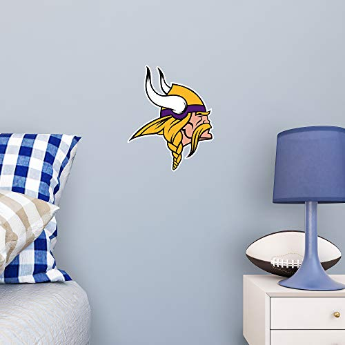 FATHEAD NFL Minnesota Vikings - Logo Teammate- Officially Licensed Removable Wall Decal, Multicolor, Large