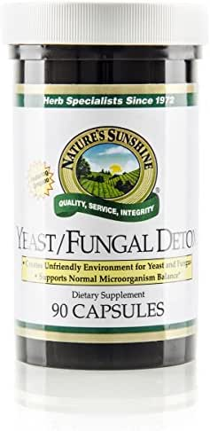 Nature's Sunshine Yeast/Fungal Detox, 90 Capsules, Yeast Detox Supplement Provides Candida Cleanse and Promotes Healthy Balance of Microflora