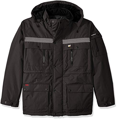 (Caterpillar Men's Heavy Insulated Parka (Regular and Big & Tall Sizes), Graphite, X Large)