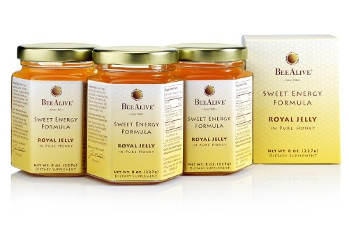 BeeAlive Sweet Energy Formula, Queen's Harvest Royal Jelly and Honey (3 Month Supply) by BeeAlive